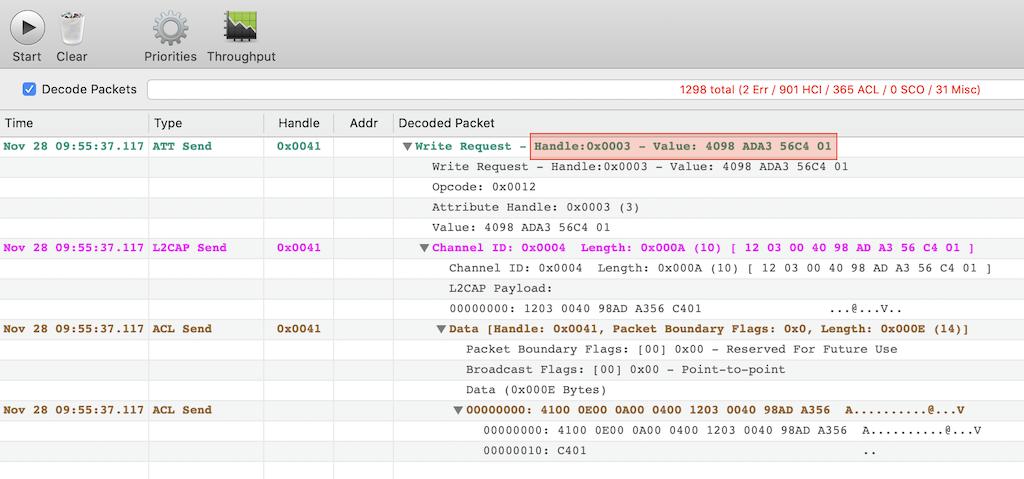 PacketLogger Screenshot